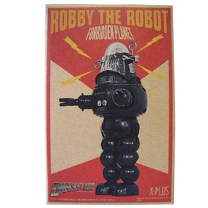 X-Plus Black and White Version Robby The Robot Die-Cast ()