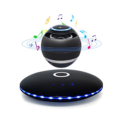 Levitating Speaker,Portable NFC Magnetic Floating Wireless Portable 3D Stereo Bluetooth 4.0 Speaker Sound(Black) by WYQN