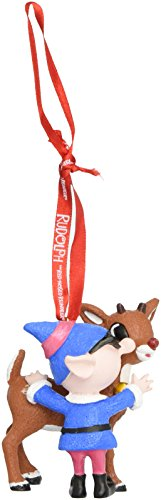 Department 56 Rudolph the Red-Nosed Reindeer and Elf Hanging Ornament (Rudolph The Red Nosed Reindeer Elf Name)