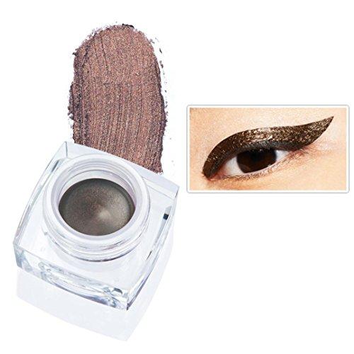 Kanzd Huamianli 12 Colors Eye Liner Waterproof Eyeliner Pearlescent Matte Long Lasting Eyeshadow (L) (Wallpaper Pearlescent)