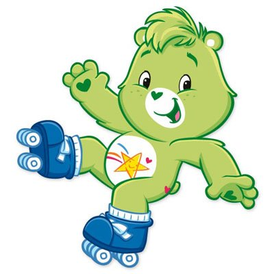 Oopsy Care Bear (Care Bears Oopsy bear Vynil Car Sticker Decal - Select Size)