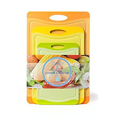Spigo Cutting Board Set with Cleantec Technology, 3-Pieces
