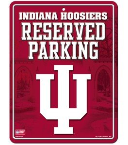 Hoosiers Metal Indiana (Rico NCAA Indiana Hoosiers 8-Inch by 11-Inch Metal Parking Sign Décor)