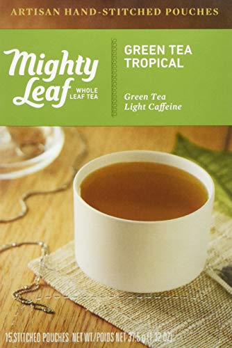 Mighty Leaf Tea Tropical Hand-Stitched Green Tea Bags, 15 ct