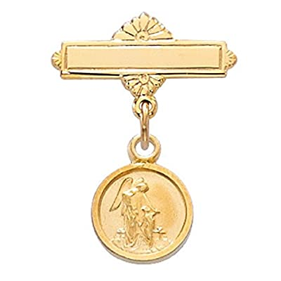 Cheap Gold Baby Pin Pendant Guardian Angel Medal in Gift Box, Christening & Baptism Pin, First Communion Pin free shipping