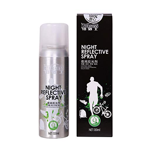 Muranba 2019 ! Night Reflective Spray Paint Reflecting Safety Mark Anti Accident Riding Bike Silver