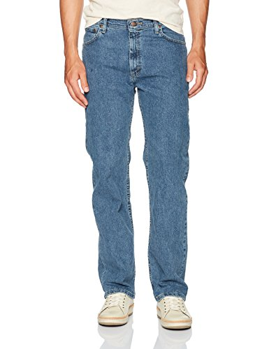 Wrangler Men's Regular Fit Comfort Flex Waist Jean, Light Stonewash, 42X32