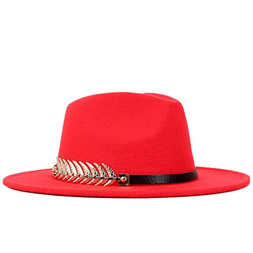 Pie Ronde Marée Top Femmes Wild Couleur Plat Britannique Rouge Chaussures Jusheng Fedora Homme Doré Chapeau 5xROp
