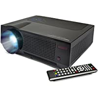 FAVI 4T SVGA HD Projector with Ultra-Bright LED LCD Technology for Outdoor Indoor Home Theater, Gaming, Office Presentations