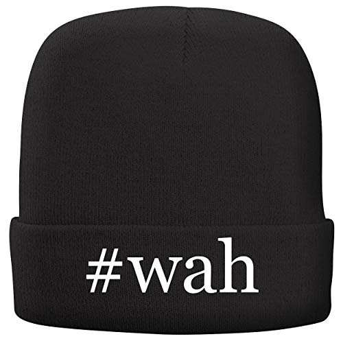 BH Cool Designs #wah - Adult Hashtag Comfortable Fleece Lined Beanie, Black