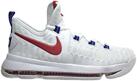 0bd14409e448 Nike Zoom KD9(GS) Big Kid s Basketball Shoes White University Red 855908-