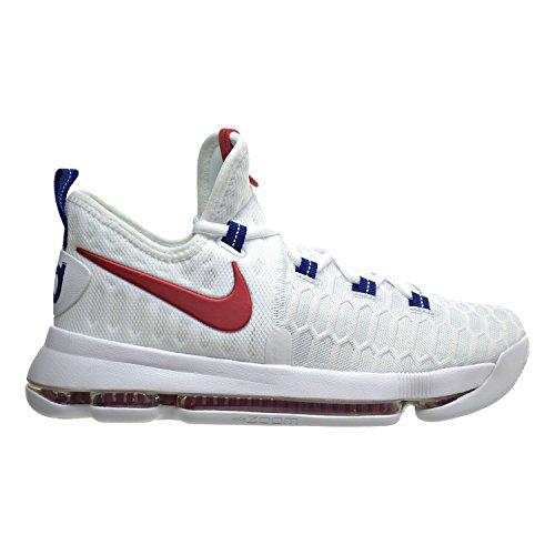 Nike Zoom KD9(GS) Big Kid's Basketball Shoes White/Univer...