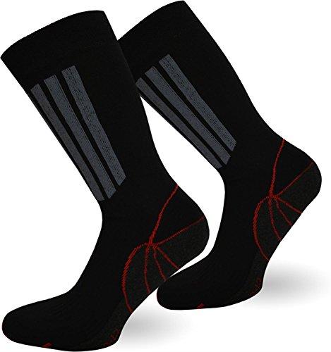 6 Paar X-Static Socken mit Silberfäden - Sport Größe 43/46