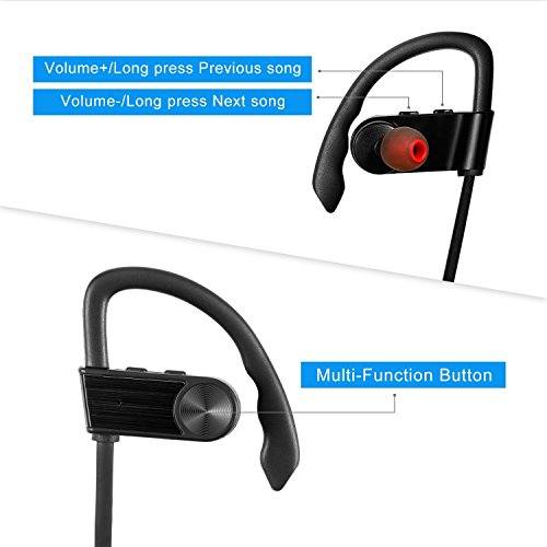 53296e6bcaa Wireless Bluetooth Earbuds Zakix Bluetooth Headphones for iPhone 7/7plus/6/6plus/5/5s  and smart phones (Black) - Buy Online in UAE.