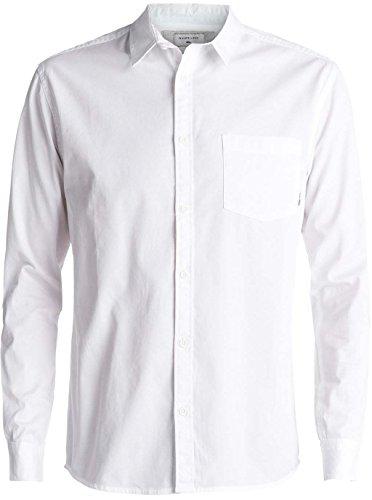 - Quiksilver Men's Classics Ls Button Down Shirt, White, L