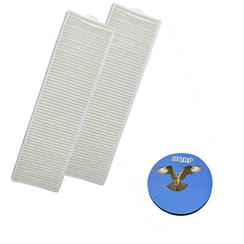 HQRP 2-pack Washable Post Motor Filters for Bissell 4220 series 4220-9/42209 / 4220P Lift-Off Revolution Pet Vacuumm plus Coaster