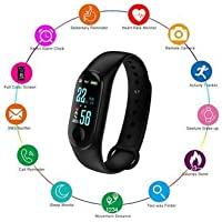 SBA Advanced Waterproof Smart Fitness Heart Rate Activity Body Functions Steps/Calorie Counter, Live Blood Pressure/Heart Rate Monitor OLED Touchscreen M3 Band/Bracelet for android & iOs Devices