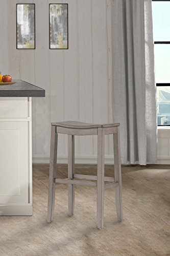 Fiddler Non-Swivel Backless Bar Stool - Aged Gray Wood - Stores Hillsdale