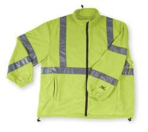 Jacket, Safety, Type 3, Lime, Fleece, M