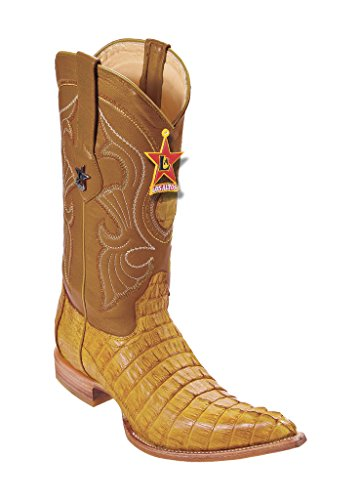 Toe Altos 3X Boots Los Western Men's Caiman Buttercup Genuine Leather Tail Pq7CwtC