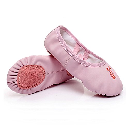 Ballet Shoes for Girls Split Sole Flats Leather Dance Shoes