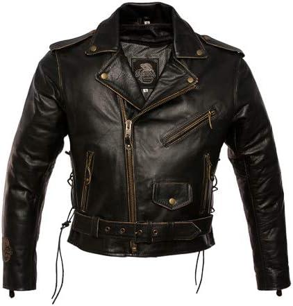 Mejor chaqueta de moto de cuero envejecido