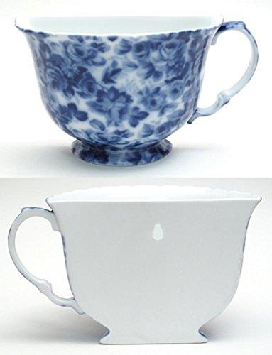 Iwgac Home Decorative Seasonal Porcelain Tea Cup Wall Pocket - Blue Floral (Pocket Porcelain Wall)