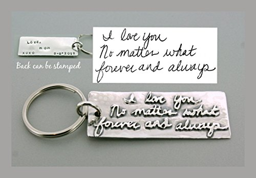 (Sterling Silver Handwriting Keychain)
