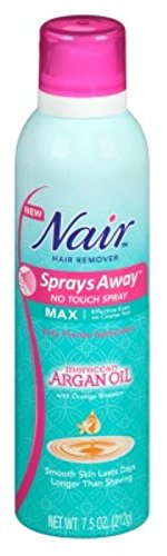 Nair Hair Remover Sprays Away Argan Oil 7.5 Ounce Max (221ml) (6 Pack) by Nair