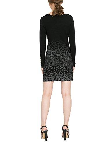 17WWVF08 VEST Kleid 2000 GRANADA Negro Schwarz Damen Desigual q1ZwII