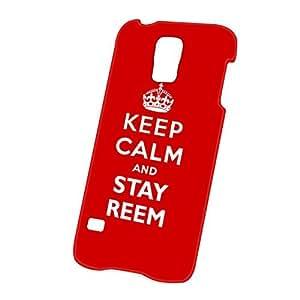 Case Fun Samsung Galaxy S5 (i9600) Case - Ultra Slim Version - Full Wrap Edge to Edge Print - Keep Calm and Stay Reem
