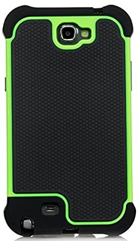 Note 2 Case, iSee Case (TM) Heavy Duty Dual Layer Hybrid Protective Cover Case for Samsung Galaxy Note 2 II N7100 (Note2-3 in 1 (Galaxy Note 2 3 Layer Case)