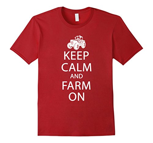 Hawaii National Costume For Men (Mens Perfect Farmer T-shirt Gift Keep Calm and FARM On Shirt Large Cranberry)