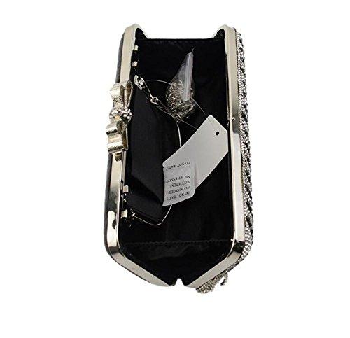 Sac Mariage Sacs Femmes Diamants Rectangle Épaule À Pochette Mariage Glands Robe Main De De de Silver xS4gSEwqP