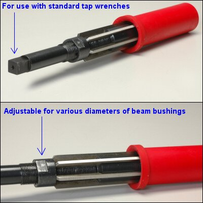 Front Axle Beam Bushing Reamer For 1.50 Up To 1.813 Diameter For 1.75 Pivot Heavy Duty Trailing Arms