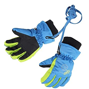 XTACER Boy's Girl's Kid's Kids Winter Warm Ski Snow Gloves (Yellow, XS)