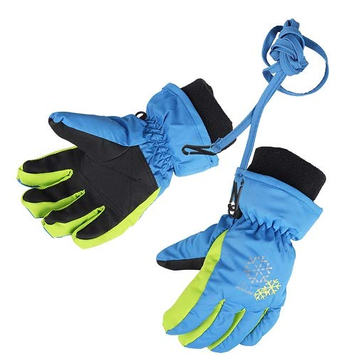 Price comparison product image XTACER Boy's Girl's Kid's Ski Snow Gloves (Blue, XS)