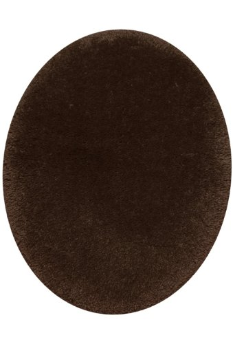 STAINMASTER TruSoft Luxurious Bath Rug, Standard Lid Coffee (Round Low Lid)