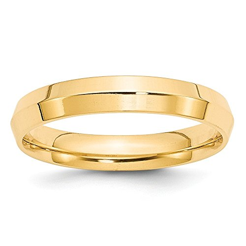 14k Yellow Gold 4mm Engravable Knife Edge Comfort Fit Band