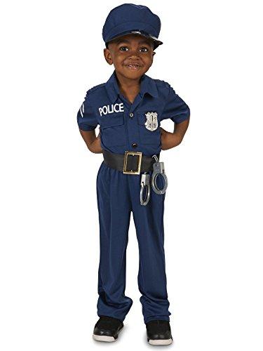 Police Officer Toddler Dress Up Costume 2-4T