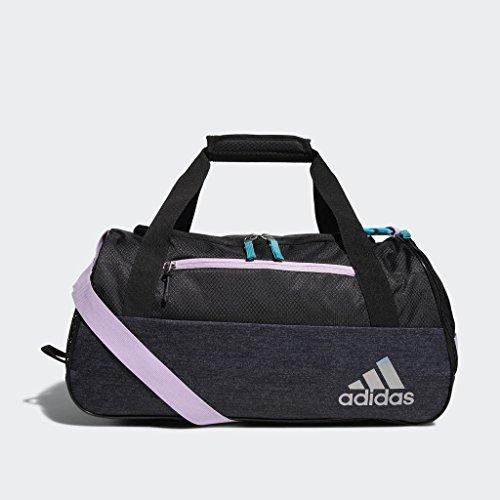 adidas Squad Duffel Bag, Clear Lilac Purple/Hi - Res Aqua Green/Black/Black J, One Size