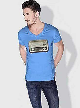 Creo Radio Retro T-Shirts For Men - M, Blue
