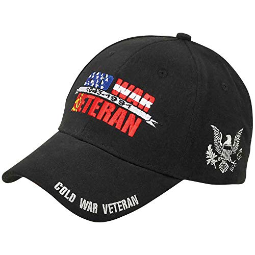 Medals of America Cold War Veteran 1945 1991 Black Hat Adjustable ()
