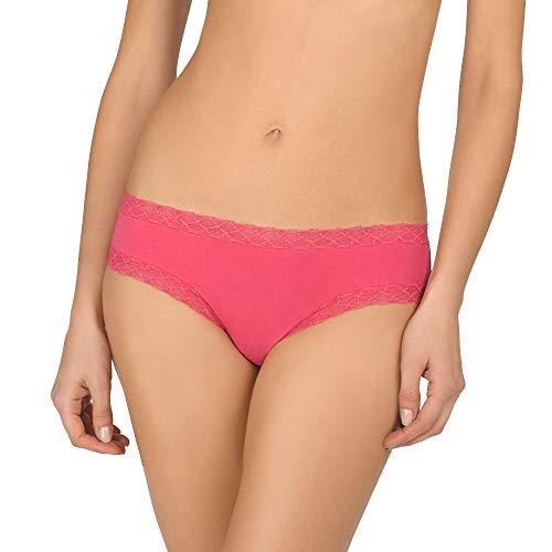 Natori Women's Bliss Cotton Girl Brief Panty, hot Pink, XL