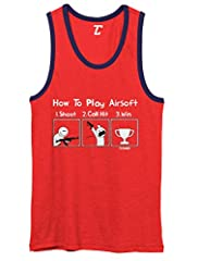 Looking for the perfect tanktop to wear anytime? Look no further! This awesome How To Play Airsoft - Gun Game Sport Unisex 2-Tone Tank Top is a comfortable, affordable way to express yourself. Whether purchasing for an airsoft player, friend,...