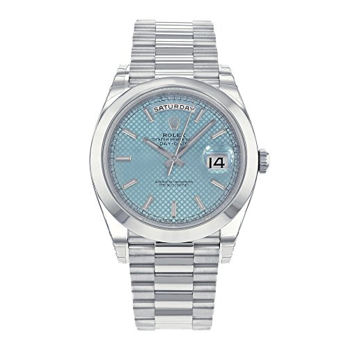 Rolex Watches Platinum (Rolex Day-Date Automatic Ice Blue Dial Platinum Men's Watch 228206 IBLSP)