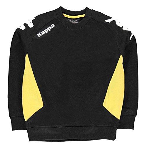 Kappa Kids Cremone Sweater Jumper Pullover Junior Boys Long Sleeve Crew Neck Black/Yellow 11-12 (LB) by Kappa (Image #1)