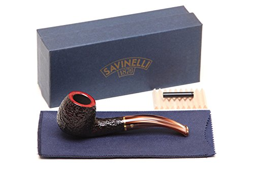 Savinelli Italian Tobacco Smoking Pipes, Roma Rusticated 626 ()