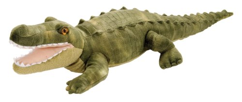 Wild Republic Green Alligator Plush, Stuffed Animal, Plush Toy, Gifts for Kids, Cuddlekins 12 Inches