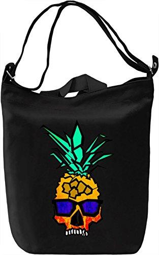 Pineapple Skull Borsa Giornaliera Canvas Canvas Day Bag| 100% Premium Cotton Canvas| DTG Printing|